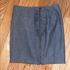 Banana Republic Wool Mini Skirt Petite Sz 8P